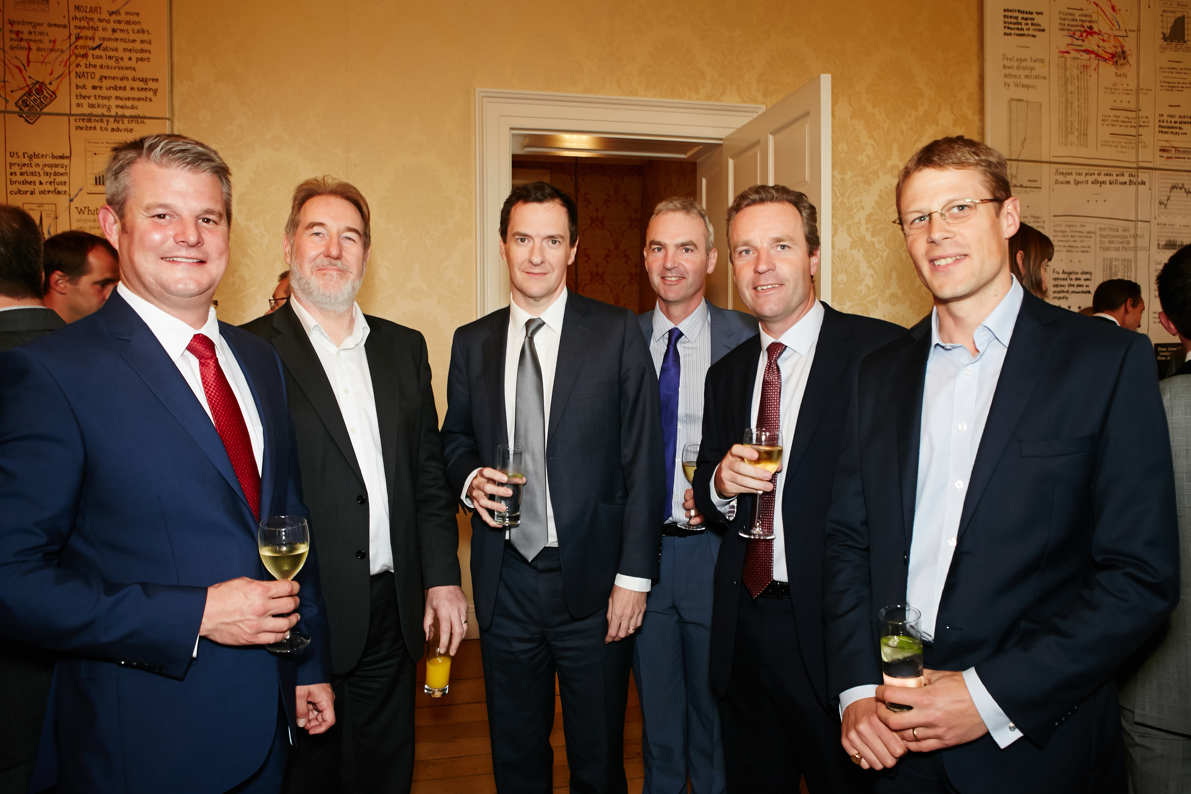 L-R Stuart Andrew MP, Chris Spencer Chief Executive Officer of EMIS Group; Rt Hon George Osborne MP; Robert Pickard Director LBBC; Howard Pickard Managing Director LBBC; Peter Southby Chief Financial Officer EMIS Group.